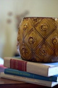 Ceramic & Books ~ Thrifty Finds