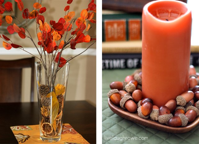 Create Fall Decor with layers.  Visit with livelaughrowe.com