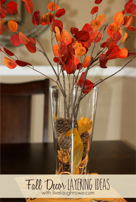 fall decor using layers   live laugh rowe