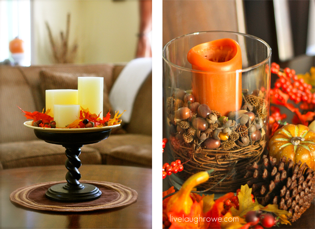 Fall Decor using layers with livelaughrowe.com
