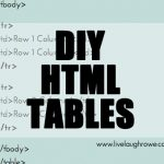 {DIY} HTML Tables