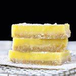 Easy Lemon Bars that are on the Skinny Side