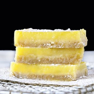 Easy lemon bars that are lightened up and perfectly tart! Recipe at livelaughrowe.com