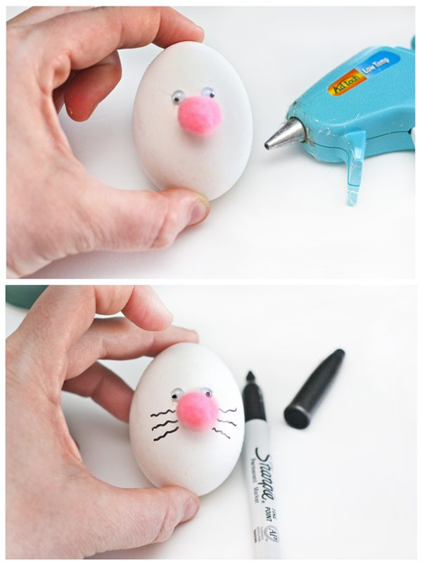 Turning an ordinary egg into an Easter Bunny!