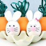 Bunny and Carrot Egg Decorating
