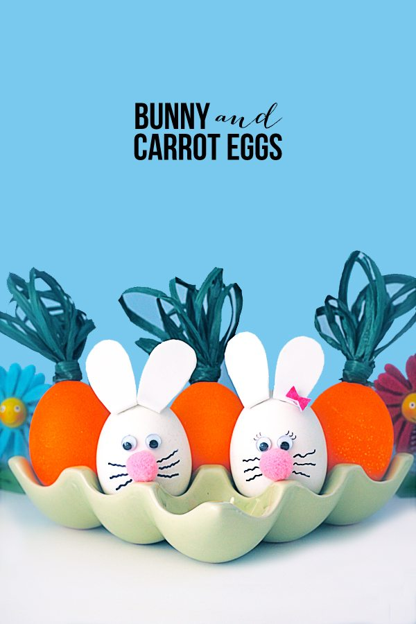 Plan for some family fun this Easter and make these Bunny and Carrot Eggs. www.livelaughrowe.com