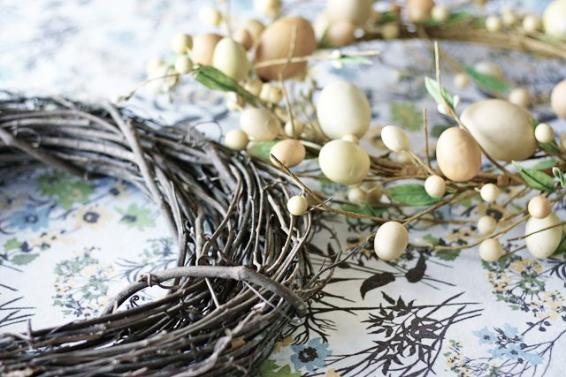 Supplies for DIY Easter Wreath with livelaughrowe.com
