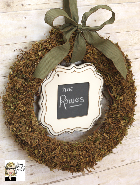 Floral Moss Wreath with livelaughrowe.com