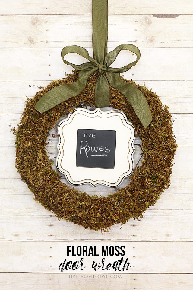 DIY Moss Wreath & Floral Moss Wreath | DIY Door Wreath - Live Laugh Rowe