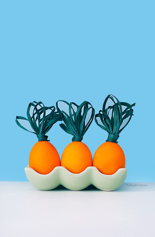 Adorable Carrot Easter Eggs. livelaughrowe.com