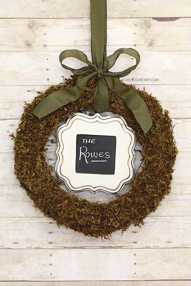 Beautiful and inexpensive floral moss wreath! livelaughrowe.com