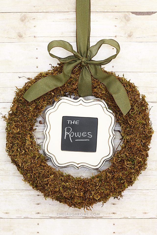 Fabulous Floral Moss Wreath with a frame? Genius! livelaughrowe.com & Floral Moss Wreath | DIY Door Wreath - Live Laugh Rowe pezcame.com