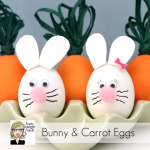 Bunny + Carrot Egg Decorating :: Family Fun