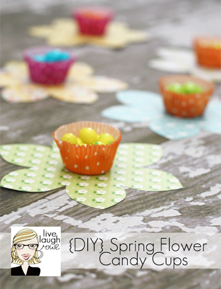 Spring Flower Candy Favors with LiveLaughRowe.com #spring #favor #crafts