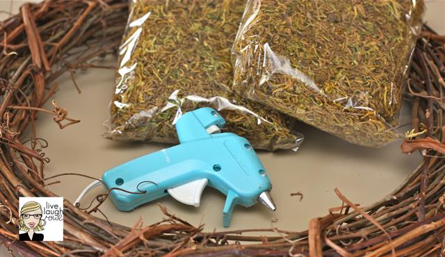 supplies for diy spanish moss wreath