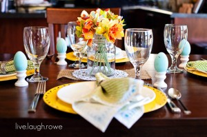 Easter + Spring Tablescape