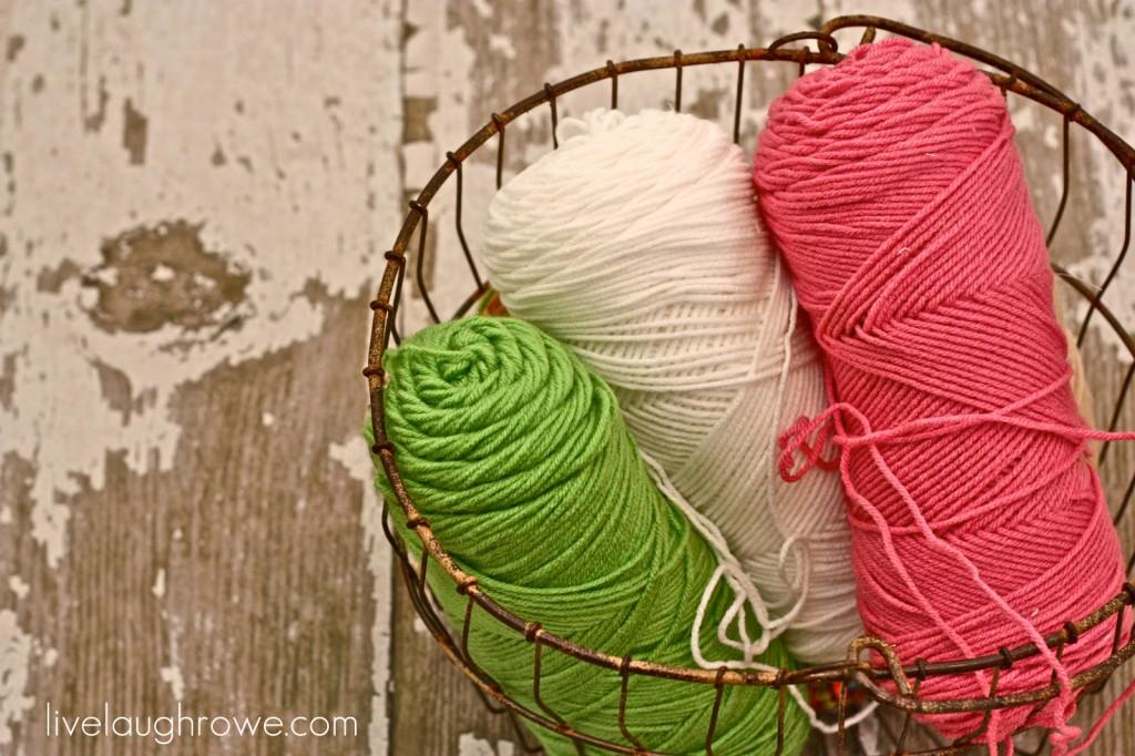 Yarn Supplies for yarn pom pom garland