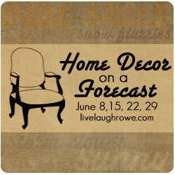 Save The Date:  Decor on a Forecast Series