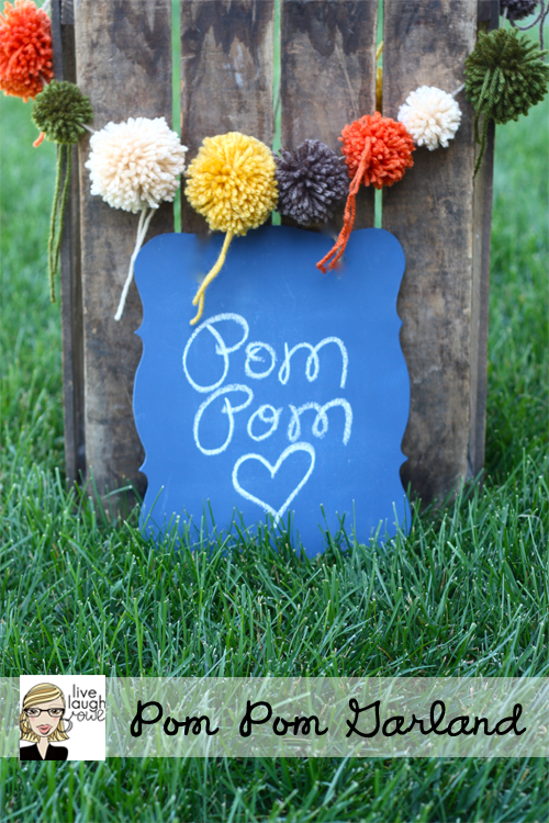 pom pom garland with livelaughrowe.com