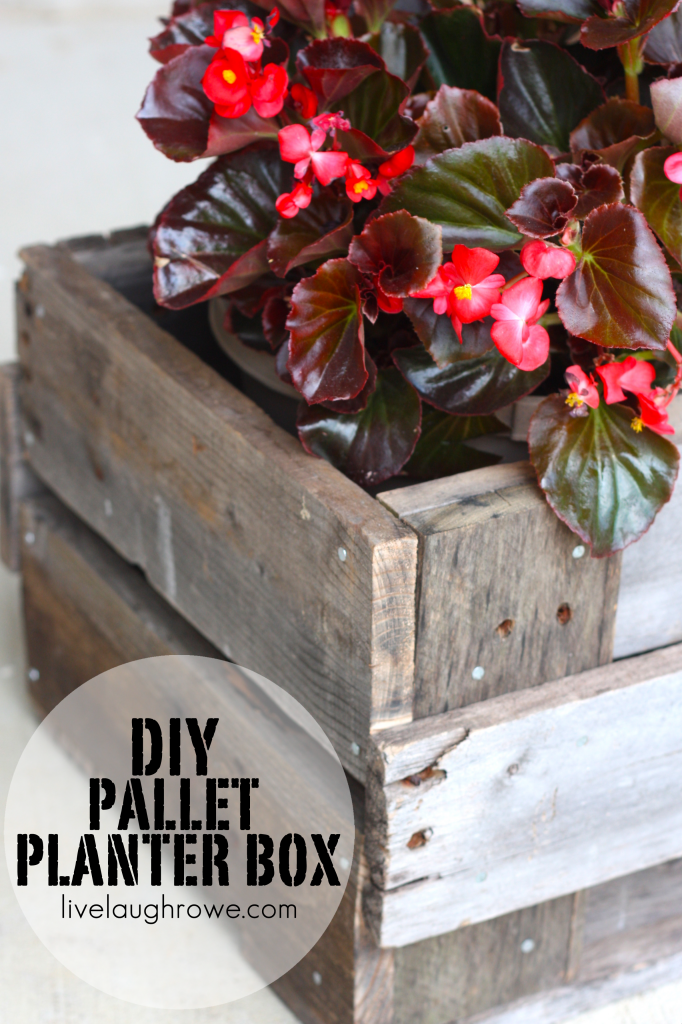 pallet planter box diy project live laugh rowe ForHow To Make A Flower Box Out Of Pallets