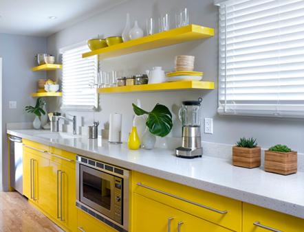 Forecast Sunny {yellow kitchen}