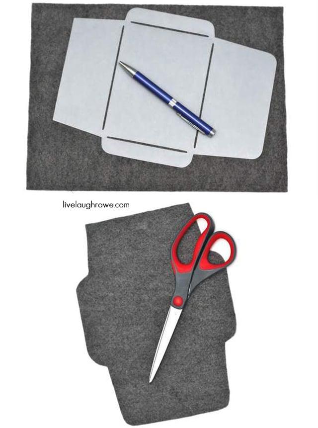 Trace and Cut Felt for Felt Envelope