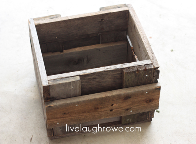 completed planter box