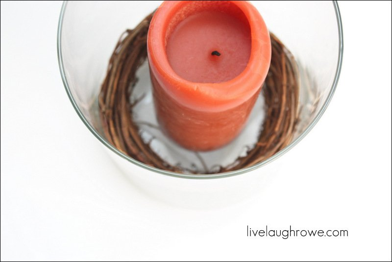 place candle on top of the tealight candle holder
