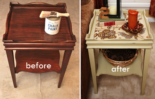 Rowes Furniture decided to paint the table in one of my Annie Sloan colors ...