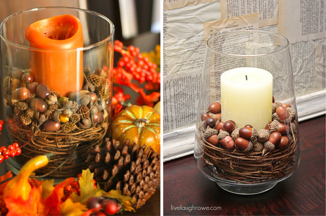 DIY Pottery Barn Inspired Fall Decor | livelaughrowe.com