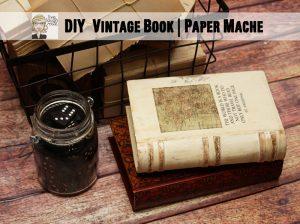 DIY Vintage Book | Paper Mache