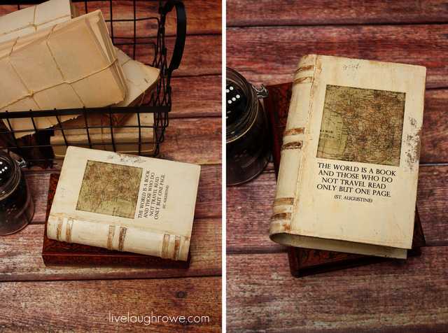 diy vintage book paper mache live laugh rowe