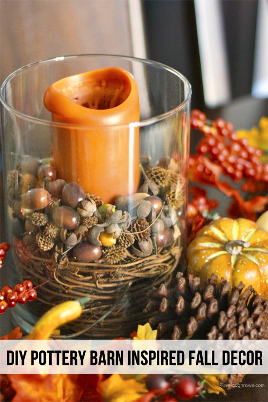 Simple and Inexpensive DIY Pottery Barn Inspired Fall Decor. Tutorial ...