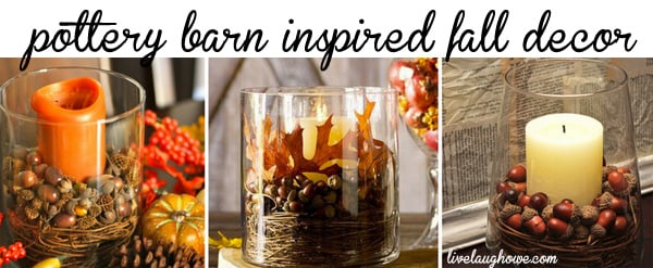 Pottery Barn inspired fall decorating with LiveLaughRowe.com