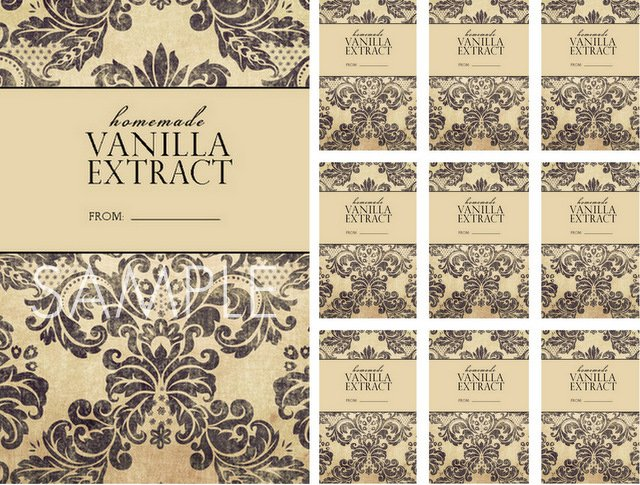 Homemade Vanilla Printable Labels with LiveLaughRowe Samples.com