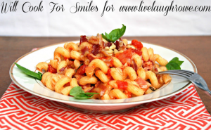 Pine Nuts and Bacon Pasta Dish