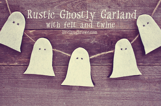 Rustic Ghostly Garland
