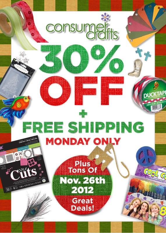 Cyber Monday at ConsumerCrafts.com with livelaughrowe.com