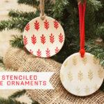 Mini Stenciled Plate Ornaments