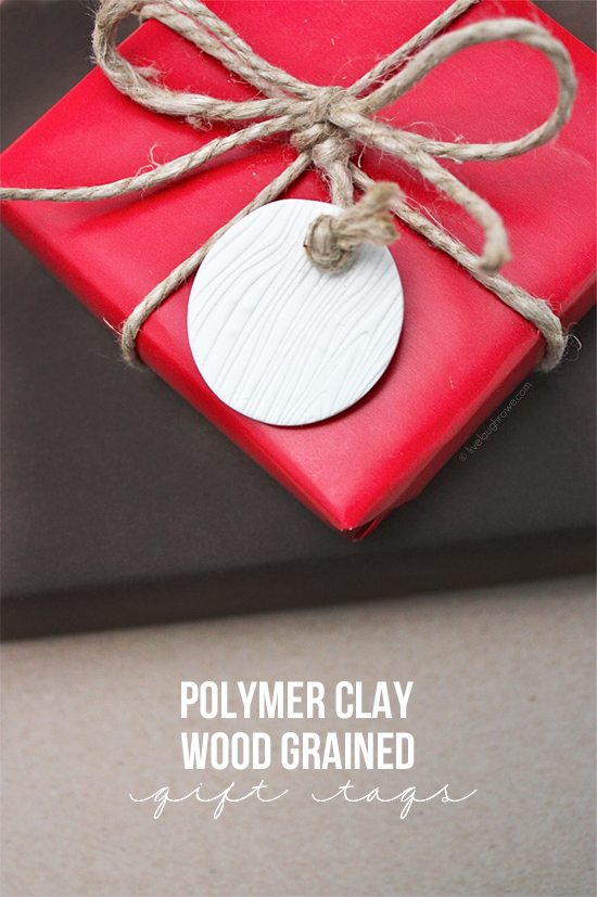 DIY Polymer Clay Gift Tags with Live Laugh Rowe