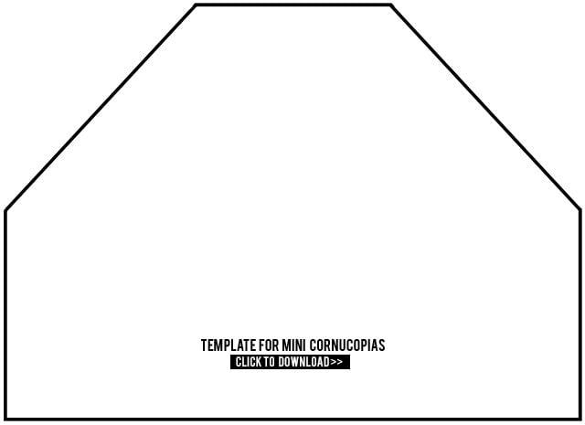 Mini Cornucopia Template. Paper Cornucopia Template