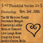 Be Thankful and a Printable
