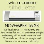 Silhouette Cameo | Giveaway