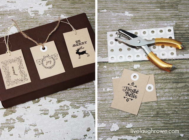 Printable Christmas Gift Tags with LiveLaughRowe.com #printable #gifttags