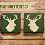 DIY Deer Head Silhouette Decor