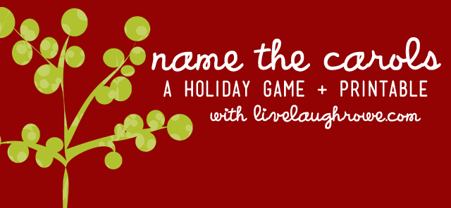 picture regarding Christmas Carol Game Printable named Status the Carols A Getaway Match + Printable - Stay Snicker Rowe