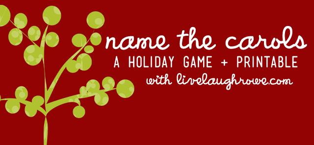 Christmas Carol Printable: A Holiday Game + Printable - Live Laugh Rowe