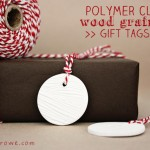 Polymer Clay Gift Tags   Wood Grained