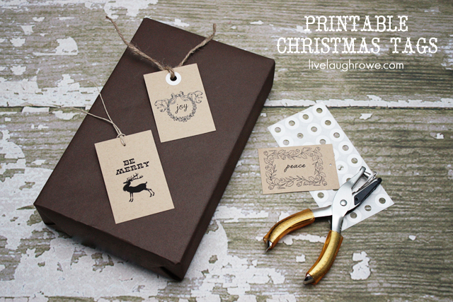Christmas Gift Tags -- Free Printable with LiveLaughRowe.com #printables #gifttags