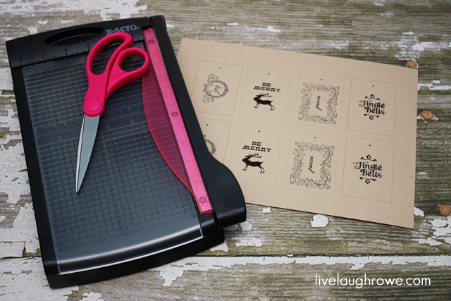Printable Christmas Tags with Live Laugh Rowe